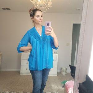 Flowy blue top tunic